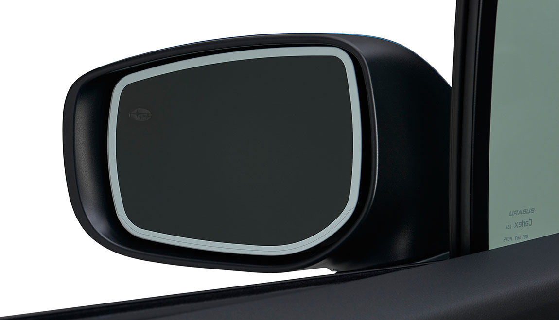 When the doors are opened or unlocked with the key fob, LED lights on the sideview mirrors will cast light on all four doors and the ground near the vehicle. Also, when the Auto-Dimming (Interior) Mirror detects excessive light from the rear of the vehicle, the sideview mirrors automatically dim.
