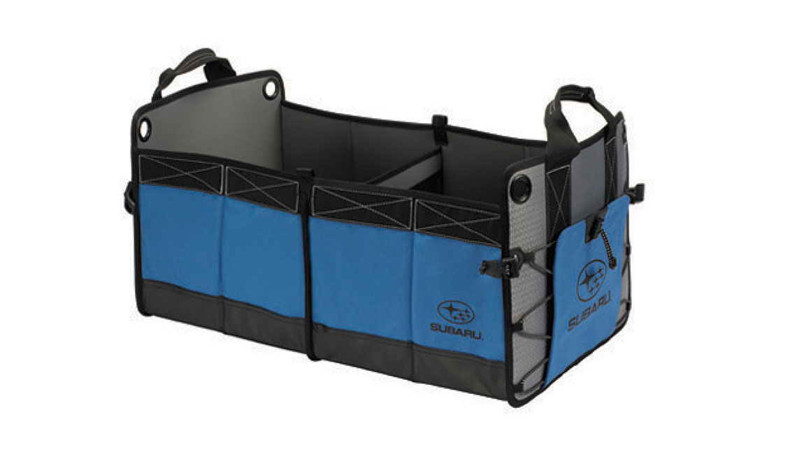 Conveniently transport your outdoor gear or up to four grocery bags neatly in the back. Quickly collapses for easy storage when not in use.