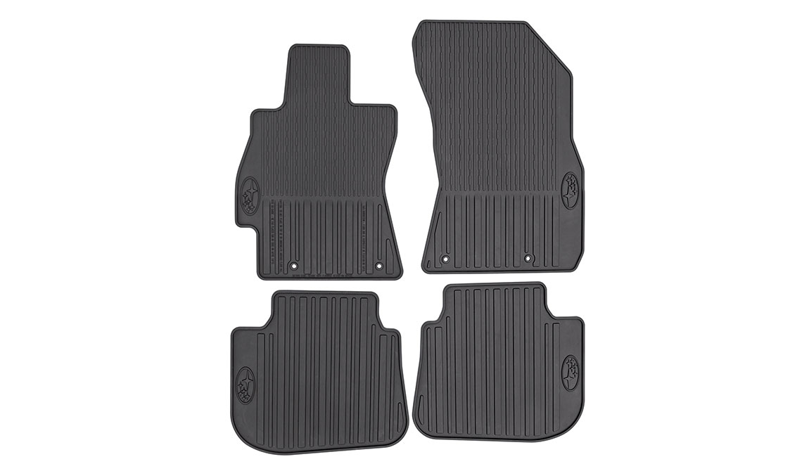 Custom-fitted, heavy-gauge protective mats. Helps protect vehicle's carpet from sand, dirt and moisture. Not intended for use on top of Carpeted Floor Mats.
