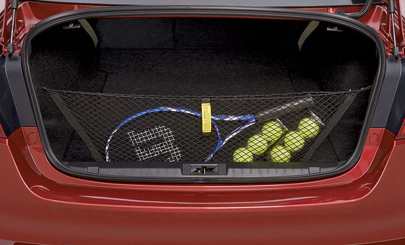 <b>Rear Cargo Net </b><br><br>Neatly holds cargo upright and helps prevent it from sliding while the vehicle is in motion.<br>