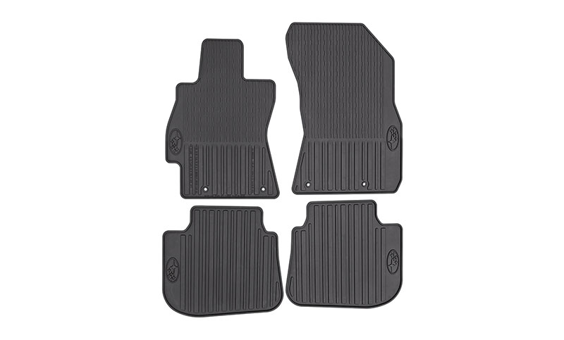 <b>All-Weather Floor Mats</b><br><br>Custom-fitted, heavy-gauge protective mats. Helps protect vehicle&rsquo;s carpet from sand, dirt and moisture. Not intended for use on top of Carpeted Floor Mats.<br>