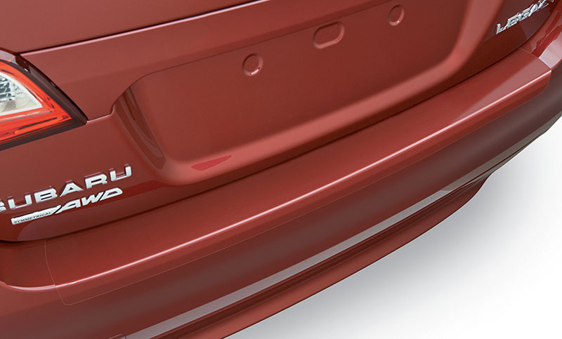 <b>Rear Bumper Appliqué</b><br><br>Clear, scratch-resistant vinyl film helps to protect the bumper upper surface and leading edge when loading or unloading cargo.<br>