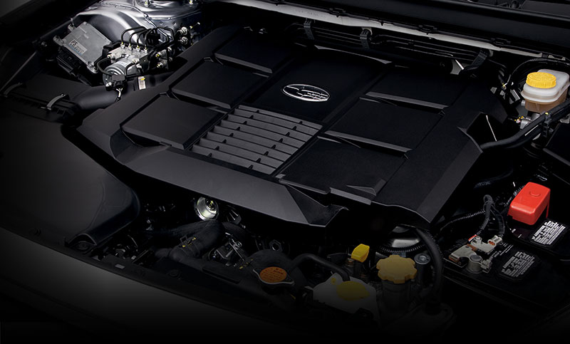 <b>256 hp SUBARU BOXER<sup>&reg;</sup> ENGINE</b><br><br>With 6 cylinders and 256 hp, there&rsquo;s more power to play with in the 3.6R. And at 28 highway MPG<sup>7</sup>, you&rsquo;ll have plenty of time to enjoy it between fill-ups. You&rsquo;ll find the 3.6R engaging to drive with considerable control, thanks to its balanced SUBARU BOXER<sup>&reg;</sup> engine layout and standard Subaru Symmetrical All-Wheel Drive. Plus, Active Torque Vectoring keeps the handling more precise for an even greater connection with the road.<br>