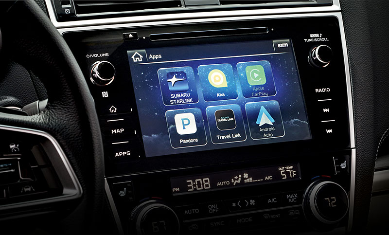 <b>8.0-inch Touchscreen</b><br><br>The large 8.0-inch touchscreen brings you a world of entertainment options, including SiriusXM<sup>&reg;</sup> All Access Radio<sup>12</sup> and HD Radio<sup>&reg;</sup> and access to apps like Pandora<sup>&reg;</sup>, iHeartRadio<sup>&reg;</sup>, Stitcher<sup>&trade;</sup> and Aha<sup>&trade;</sup><sup>14</sup>. STARLINK<sup>&trade;</sup> also shows incoming texts onscreen, so you can stay in touch without taking your focus from your drive<sup>15</sup>.<br>