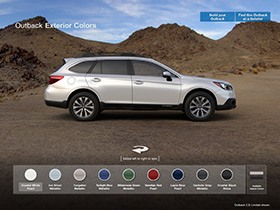 Build Your Own Subaru >> Subaru Outback Exterior Colors | 2016 Subaru Outback