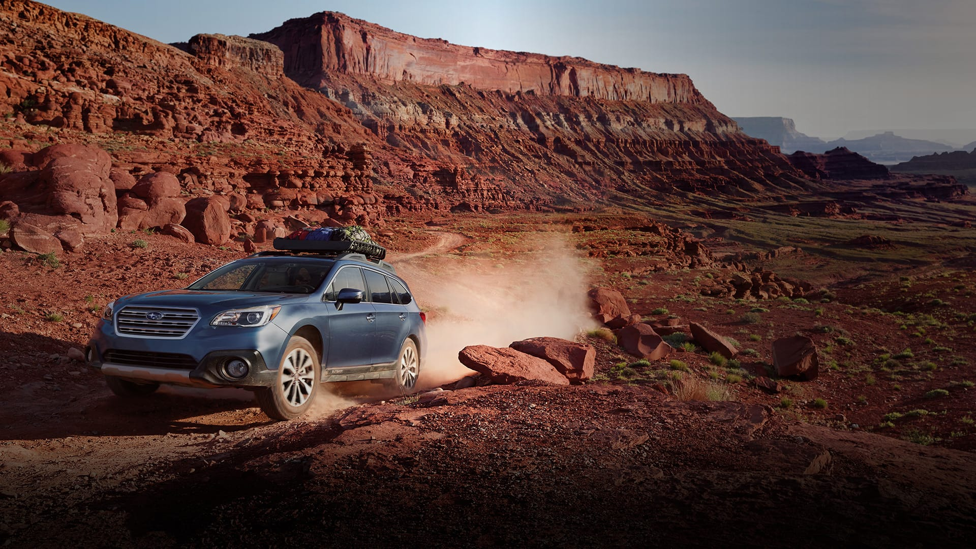 Adventures often take you to remote places. In the Outback, you'll come prepared. With 8.7 inches of ground clearance, and the venerable Subaru Symmetrical All-Wheel Drive system, little can block you from getting there. Adversity? No problem, simply activate X-MODE<sup>®</sup> with Hill Descent Control for even more control and confidence. And with up to 32 miles per gallon<sup>1</sup>, the responsive SUBARU BOXER<sup>®</sup> engine has the efficiency to help you go farther, and the reliability to go the distance.