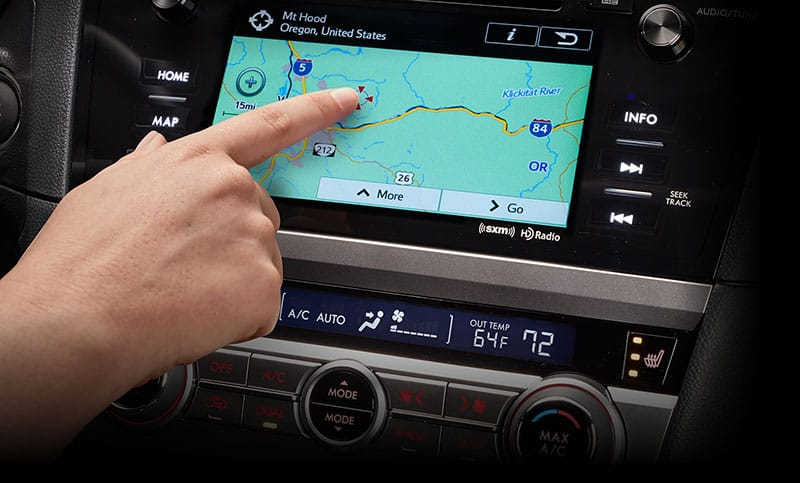 <b>Navigation System</b>           The SUBARU STARLINK™ Multimedia Navigation System has a high-resolution 7