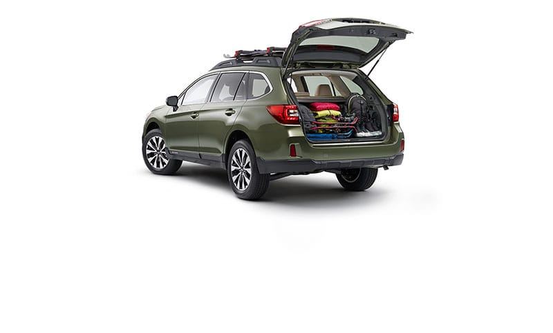 <b>Room to play.</b>  With the Outback, versatility isn't an add-on, it's standard. Equipped with roof rails that feature retractable cross bars seamlessly integrated into its design, every Outback is adventure-ready, right out of the factory. And with prodigious space, 60/40-split folding rear seatbacks, and an available power rear gate with height memory, the Outback has the versatility to match its capability.