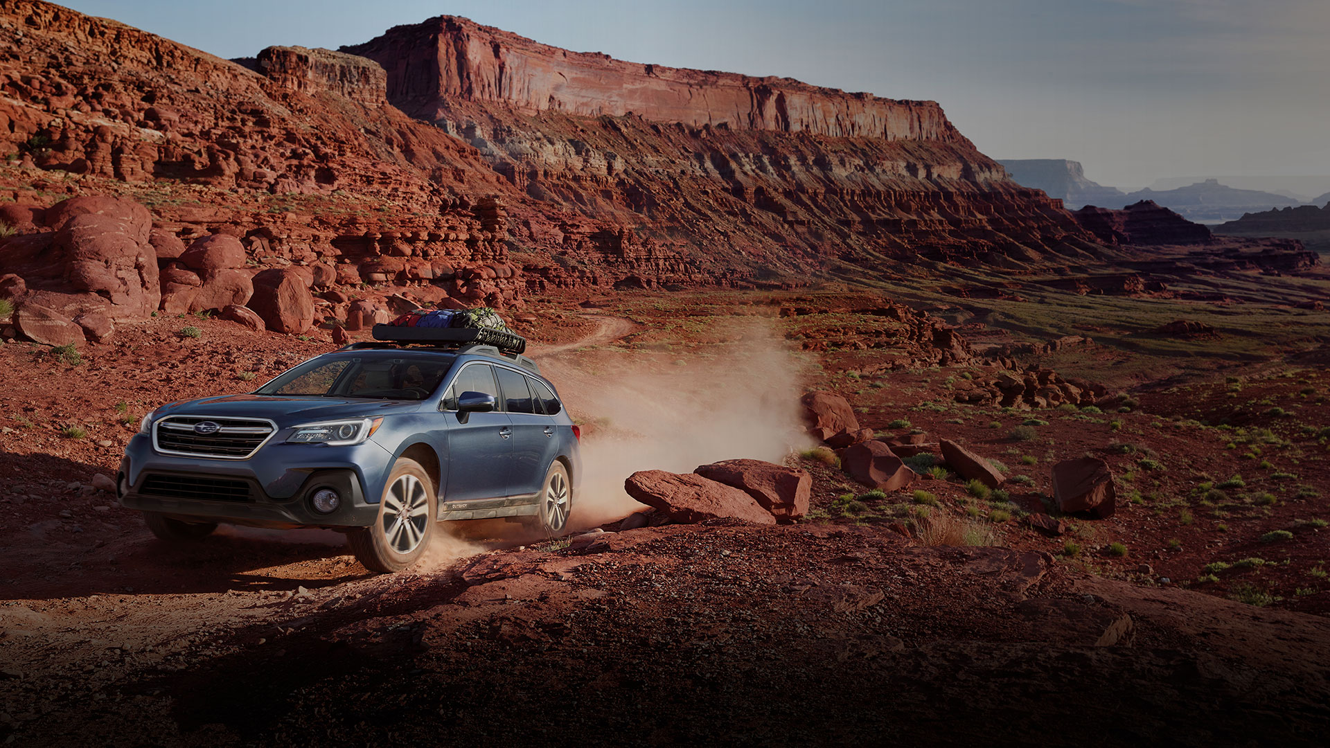 Adventures often take you to remote places. In the Outback, you'll come prepared. With 8.7 inches of ground clearance and the proven Subaru Symmetrical All-Wheel Drive system, little can block you from getting there. Even the roughest terrain poses no threat. Simply activate X-MODE<sup>&reg;</sup> with Hill Descent Control for even more control and confidence. And with up to 32 miles per gallon<sup>1</sup>, the responsive SUBARU BOXER<sup>&reg;</sup> engine has the efficiency to help you go farther, and the reliability to go the distance.