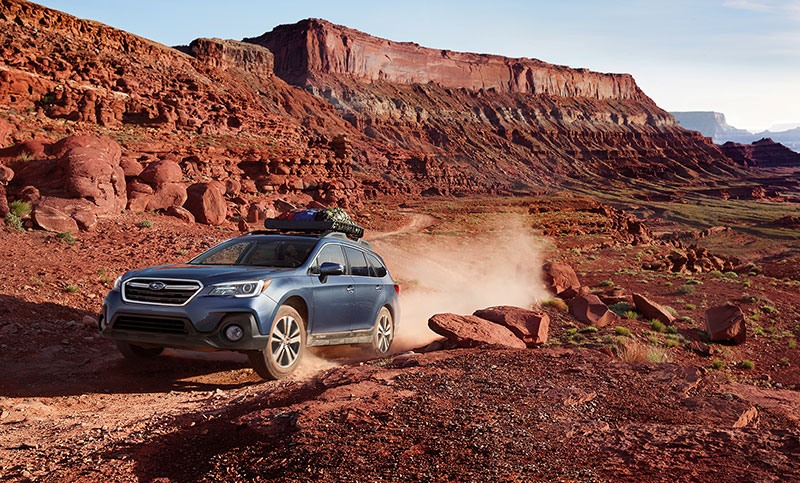 <b>Always Be Adventure-Ready.</b>        <br><br>In the Outback, you'll come prepared. With 8.7 inches of ground clearance, and the venerable Subaru Symmetrical All-Wheel Drive system, little can block you from getting there. Adversity? No problem, simply activate X-MODE<sup>®</sup> with Hill Descent Control for even more control and confidence. And with up to 32 miles per gallon<sup>9</sup>, the responsive SUBARU BOXER<sup>®</sup> engine has the fortitude to get you to your destination, and the efficiency to get you all the way back.
