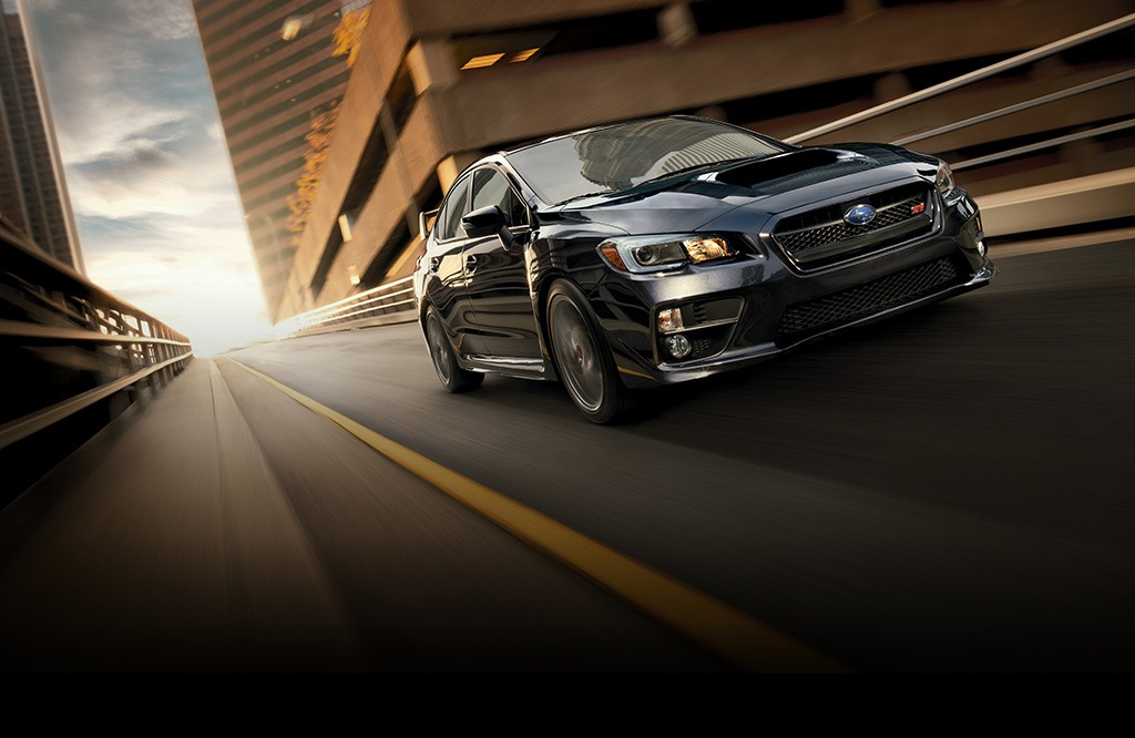 WRX STI Limited in Dark Gray Metallic.