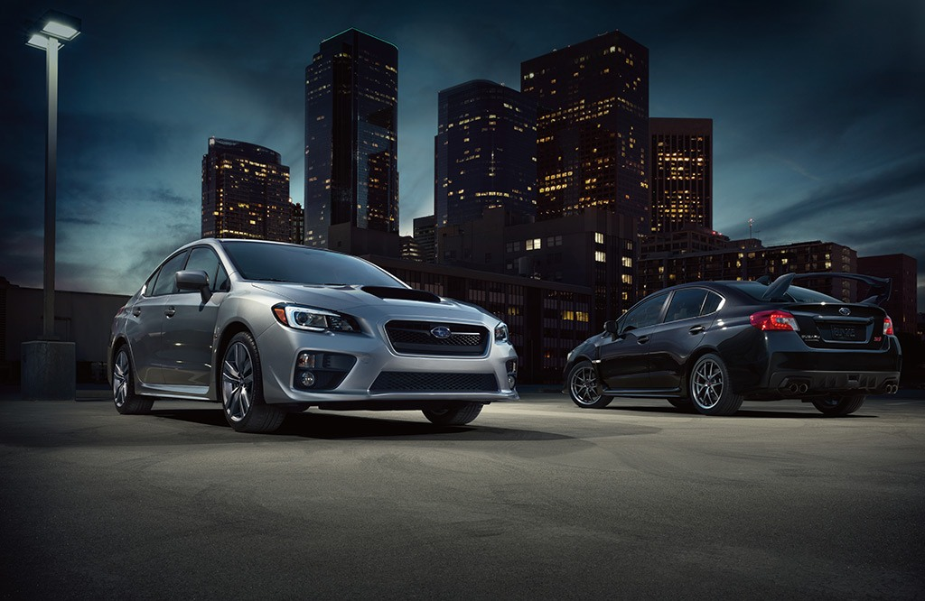 WRX Limited in Ice Silver Metallic and WRX STI Limited in Dark Gray Metallic.