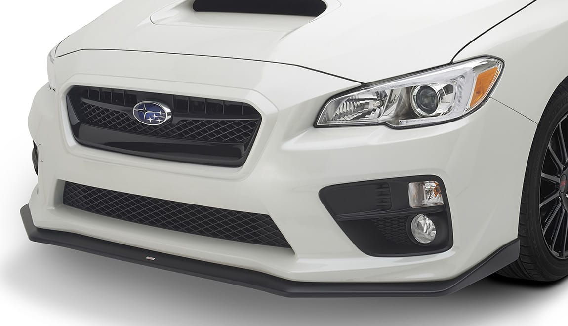 STI Front Under Spoiler gives the WRX and WRX STI models a mean, ground-hugging attitude.