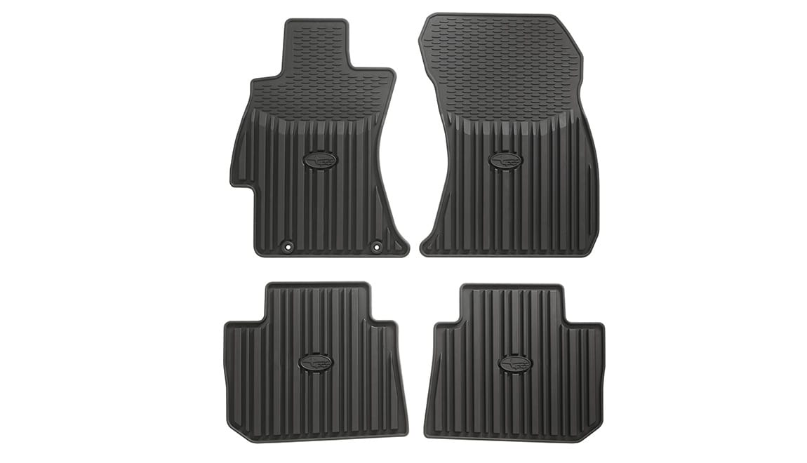 Custom-fitted, heavy-gauge floor mats help protect the vehicle carpet from sand, dirt and moisture.