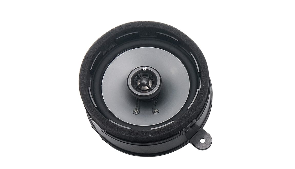 Enhance the sound clarity of your vehicle's audio system with these high-efficiency, two-way speakers manufactured for Subaru by Kicker<sup>®</sup>. They have quality-constructed injection-molded Poly cones with 20mm silk dome tweeters and a frequency response rated at 30hz to 22khz.