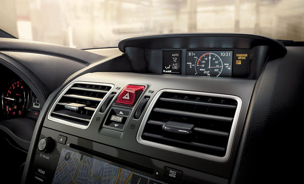 <br>Every WRX features standard CFC-free automatic climate control.<br><br><br>