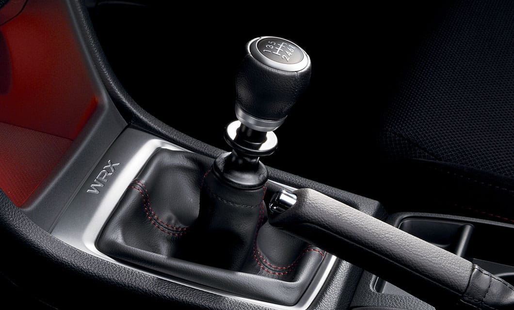<br>You're in command with either the 6-speed manual transmission with carbon 1st and 2nd gear synchros, or the available Sport Lineartronic™ Transmission with paddle shifters, 6- and 8-speed manual modes, and the ability to choose from three performance modes via Subaru Intelligent Drive (SI-DRIVE).<br><br><br>