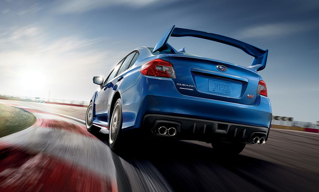 <br>The WRX STI has a 4-wheel independent suspension with aluminum front lower control arms, and a double wishbone rear suspension—tuned and tweaked by Subaru Tecnica International. Body roll is almost non-existent, thanks to pillow-ball joint mounts and bushings throughout, optimized spring-rates, and just the right amount of sway bar stiffness. Working in unison with an ultra stiff unibody chassis, the WRX STI corners with precision and holds lines better than any sedan has the right to<sup>1</sup>.<br><br><br>