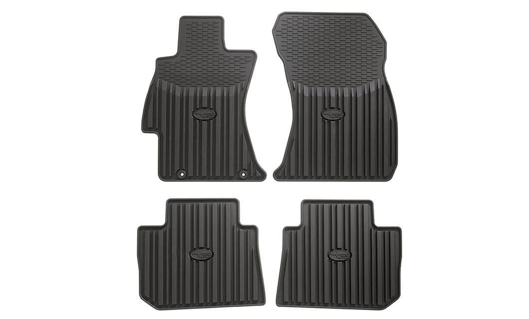 <b><br>All-Weather Floor Mats</b><br><br>Custom-fitted, heavy-gauge floor mats help protect vehicle carpet from sand, dirt and moisture. Not intended for use over top of carpeted floor mats.<br><br><br>