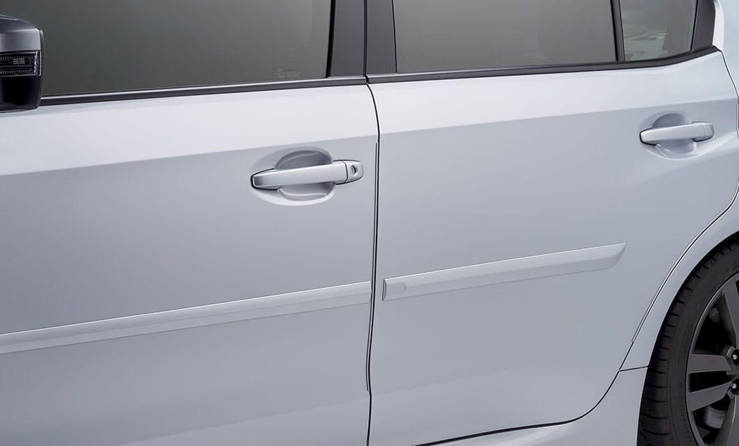 <b><br>Door Edge Guards</b><br><br>Help protect your door edges from dings and dents with custom-fit, body-color-matched Door Edge Guards. They are easy to install and preserve the appearance of your Subaru while seamlessly blending into the door design.<br><br><br>