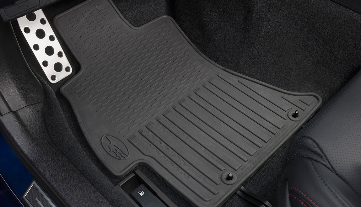 Custom-fitted, heavy gauge floor mats help protect the vehicle carpet from sand, dirt and moisture. Not intended for use on top of Carpeted Floor Mats.