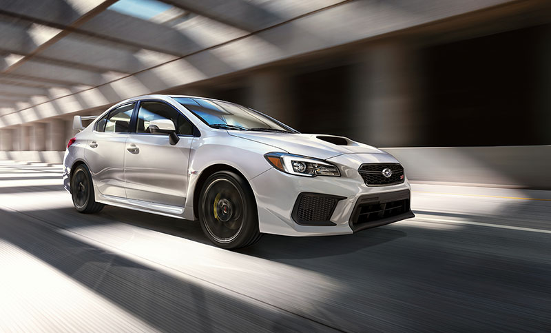 <br>Powered by the race-proven 305-horsepower turbocharged SUBARU BOXER<sup>&reg;</sup> engine, the WRX STI has the performance to back up its aggressive looks.