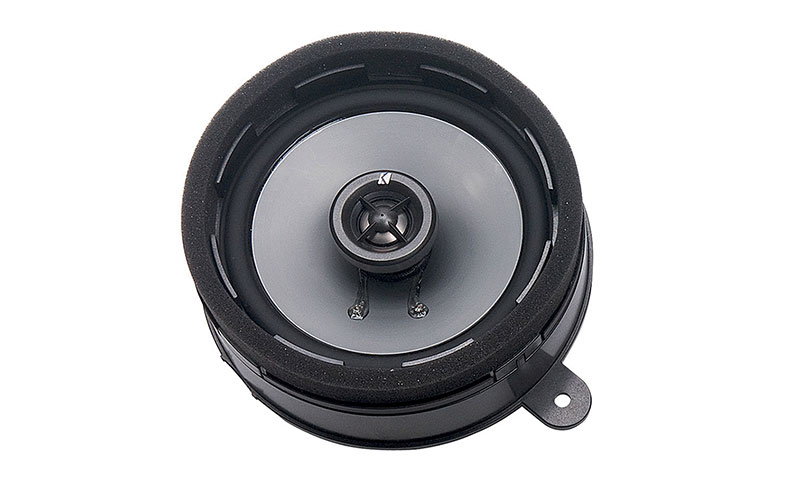 <b>Kicker<sup>&reg;</sup> Speaker Upgrade</b><br><br>Enhance the sound clarity of your vehicle&rsquo;s audio system with these high-efficiency, two-way speakers. They have quality-constructed injected-molded Poly cones with 20mm silk dome tweeters and a frequency response rated at 30hz to 22khz.<b>Excludes models equipped with Harman Kardon<sup>&reg;</sup> audio.