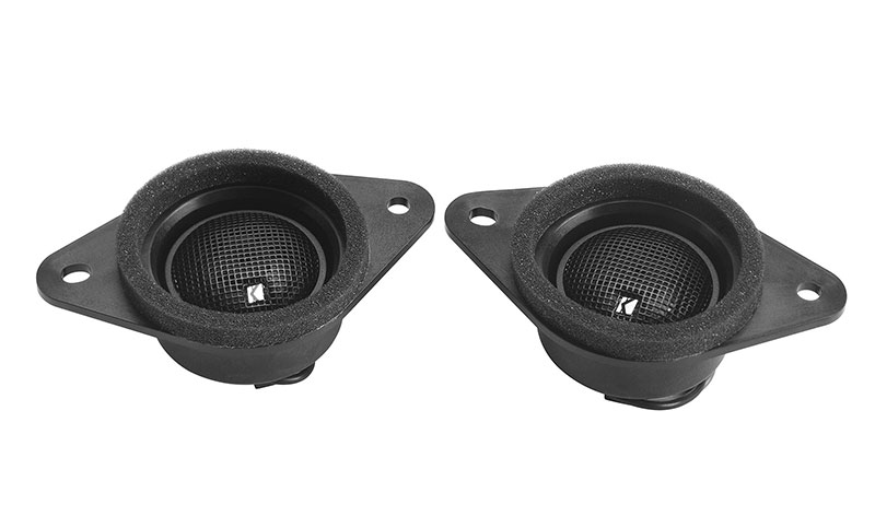 <b>Kicker<sup>&reg;</sup> Tweeter Kit</b><br><br>Includes two 22mm tweeters for placement in the front dash to optimize the high frequency detail. Frequency response is 4500hz to 22khz.<b>Excludes models equipped with Harman Kardon<sup>&reg;</sup> audio.<br><br>