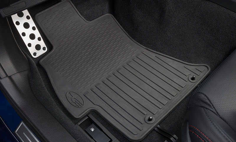 <b>All-Weather Floor Mats</b><br><br>Custom-fitted, heavy-gauge floor mats help protect the vehicle carpet from sand dirt and moisture.<b>Not intended for use on top of Carpeted Floor Mats.