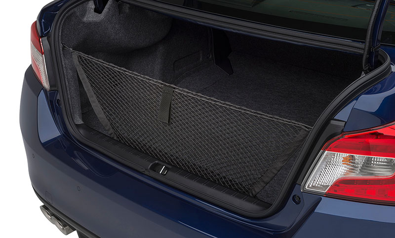 <b>Cargo Net</b><br><br>Neatly holds cargo and prevents it from sliding while the vehicle is in motion.